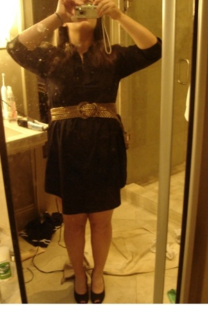 H&M dress - Vaneli shoes - belt