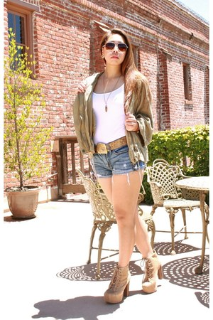 Jeffrey Campbell boots - American Eagle shorts - Loft top
