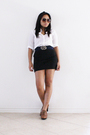 White-american-eagle-blouse-black-forever21-skirt-brown-kenneth-cold-shoes-