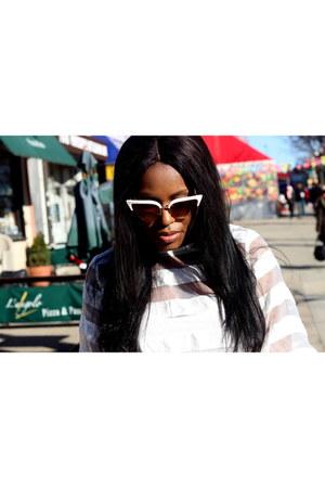 Topshop jeans - Aldo sunglasses - Forever 21 heels - H&M blouse
