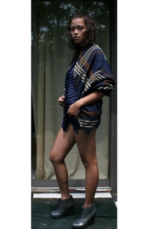yohji yamamoto y3 jacket - Gap sweater - DIY shorts - Cynthia Vincent boots