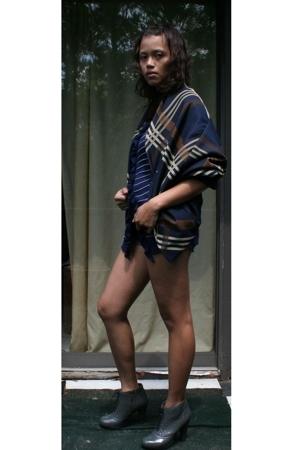 yohji yamamoto y3 jacket - Gap sweater - DIY shorts - Cynthia Vincent boots
