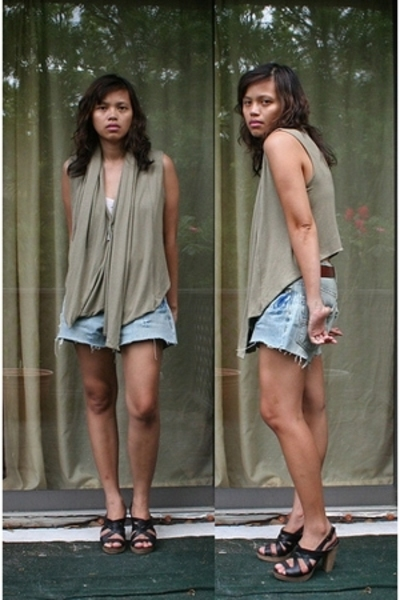 random from Barneys vest - DIY shorts - Y-3 accessories - seychelles shoes - Gap