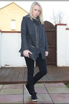 glam Matalan sneakers - street style Ebay coat - streetstyle Topshop jeans