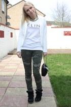 blazer H&M blazer - chic Fendi bag - street style Batoko t-shirt