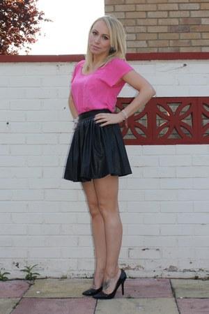 chic asos skirt - chic H&M t-shirt - chic Zara heels