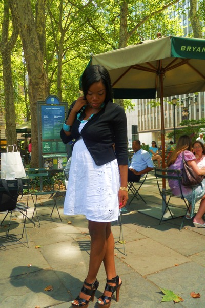 white f21 dress
