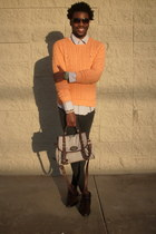 Masimo New York boots - Ralph Lauren sweater - Old Navy shirt - Forever 21 bag -