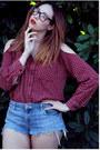 Puritan-shirt-cutoffs-mossimo-denim-shorts-benefit-accessories