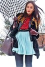 Black-romwe-coat-dark-brown-mango-bag-crimson-primark-blouse
