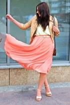 light orange no name skirt - nude Cubus jacket - neutral H&M heels