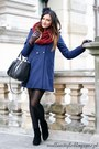 Black-zara-skirt-navy-h-m-coat-black-zara-blouse