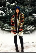 dolan jacket dolan jacket - Steve Madden boots - free people dress