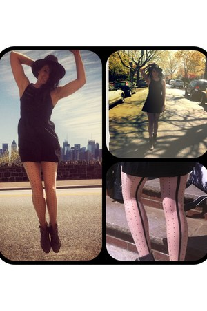 Steve Madden boots - Urban Outfitters dress - Urban Outfitters hat