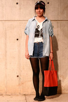 Zara blouse - no brand shorts