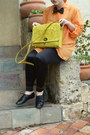 Black-sportsgirl-leggings-yellow-etched-satchel-asos-bag-black-bowtie-tie
