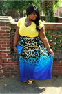 Blue-maxi-chiffon-jcp-skirt