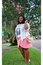white graphic tee deb t-shirt - off white silk kohls blazer