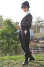 White-american-apparel-shirt-black-liz-claiborne-blouse-black-pants-black-