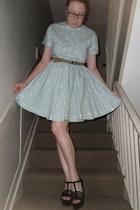 COS dress - Oscar de la Renta belt - Zara wedges