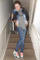 navy Christopher Kane hoodie - navy Topshop jeans - ivory Tabio socks
