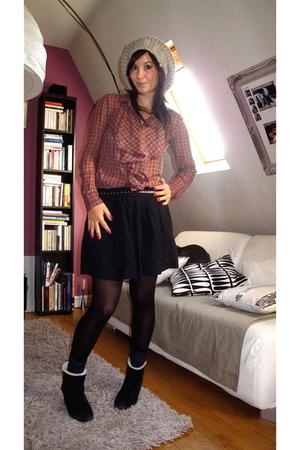 Lafayette Accessoires hat - Et Vous shirt - Maje skirt - vintage belt - Miss Ell