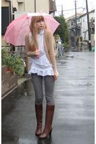 white mwa blouse