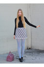 Periwinkle-american-apparel-tights-amethyst-furla-bag-white-vintage-skirt