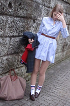 blue American Apparel dress - white American Apparel socks - red Tommy Hilfiger