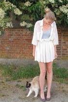 ivory American Apparel shirt - ivory American Apparel skirt - periwinkle America