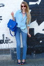 Periwinkle-american-apparel-shirt-blue-wholesale-dress-bag-blue-zara-pants
