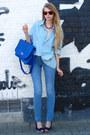 Periwinkle-american-apparel-shirt-blue-wholesale-dress-bag-blue-zara-pants