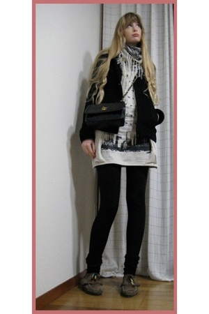 a young designer fron Seoul dress - American Apparel leggings - H&M jacket - H&M