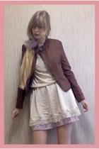 Riche Glamour jacket - vintage dress - Zara shoes