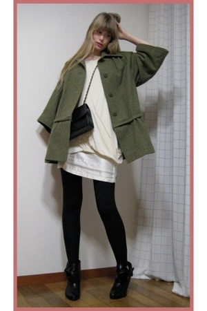 Hanjiro dress - Mikio Sakabe dress - American Apparel leggings - Chanel purse -