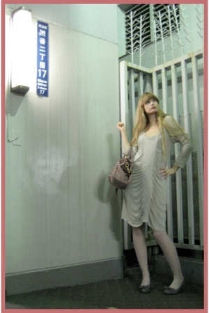 Zara dress - Miu Miu purse - Socks store in Harajuku stockings - on the coach sh