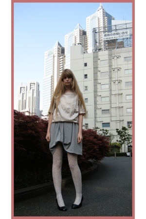 Mikio Sakabe top - Hanjiro retouched shirt - H&M stockings - Newlook shoes - fro
