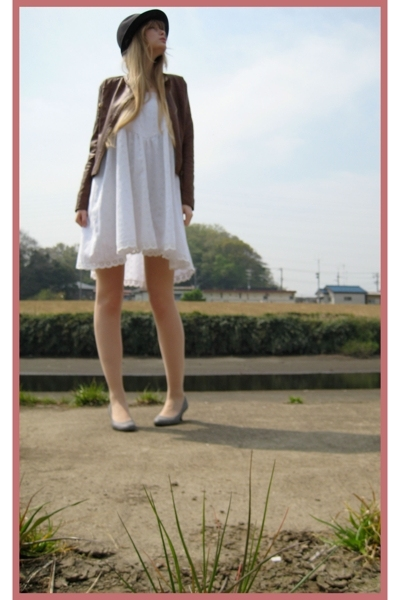 Hanjiro hat - rich glamour jacket - vintage dress - on the coach shoes