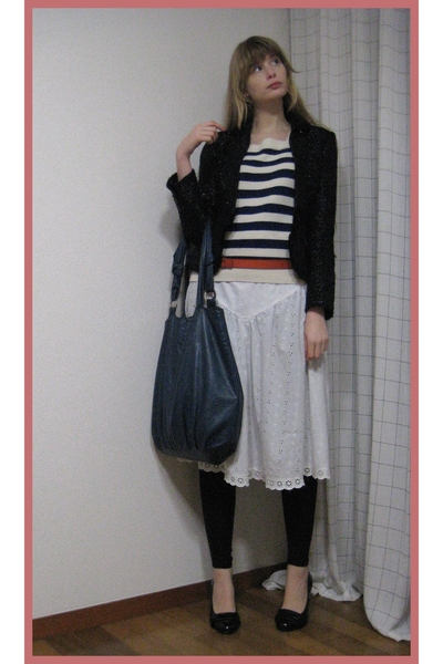 vintage top - vintage skirt - vintage blazer - vintage belt - H&M purse - Newloo