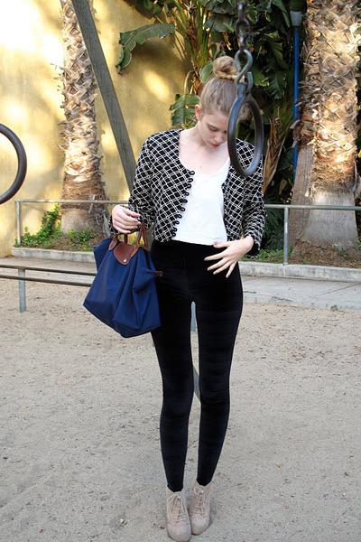 vintage jacket - American Apparel leggings - American Apparel top