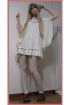 H&M dress - store in harajuku vest - H&M stockings - Muji hat - store in harajuk