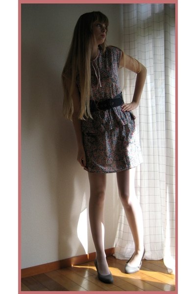 handmade dress - H&M belt - on the coach shoes - handmade coat - Miu Miu purse