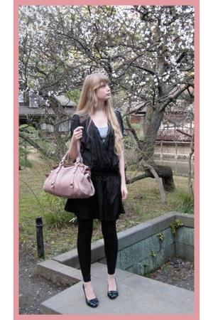 Zara dress - Miu Miu purse - new look top - American Apparel leggings - Shibuya