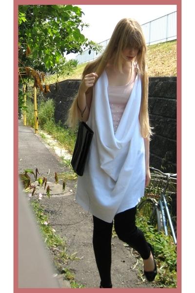 handmade dress - H&M top - American Apparel leggings - Zara purse