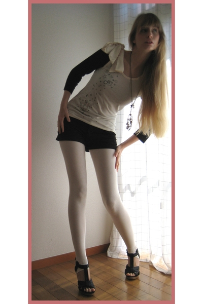 Jill by Jill Stuart top - H&M top - H&M leggings - H&M shorts - H&M shoes - H&M
