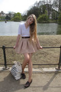 White-vintage-sweater-off-white-american-apparel-bag-beige-zara-skirt-dark