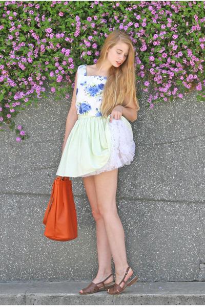 lime green American Apparel skirt - white American Apparel skirt