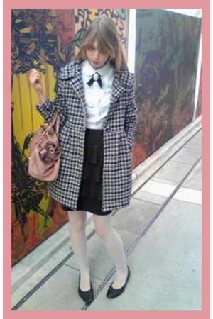 Miu Miu purse - H&M skirt - H&M shirt - vintage shoes - vintage coat