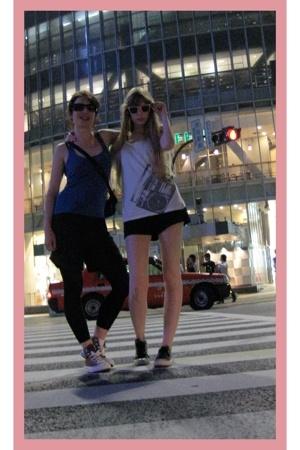 H&M top - American Apparel shorts - Converse shoes