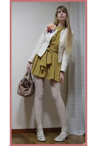 vintage retouched dress - banana republic blazer - H&M stockings -  shoes - MiuM